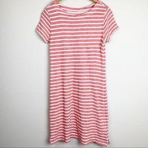 Vineyard Vines Red & White Striped Shirt Dress